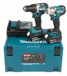 Įrankių rinkinys Makita DLX2184TJ (Makita DDF484Z + DTW285Z); 18 V; 2x5,0 Ah akum.