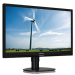 Monitorius Philips 241S4LCB, 24'', Full HD; 5ms; D-Sub/DVI; HAS; juodas