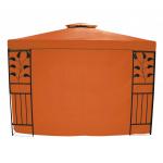 Šoninė pavėsinės sienelė 300x200 cm, oranžinė