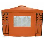 Šoninė pavėsinės sienelė su langu 300x200 cm, oranžinė